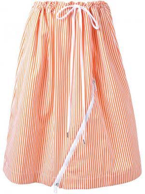 Полосатая юбка Jil Sander. Цвет: жёлтый и оранжевый