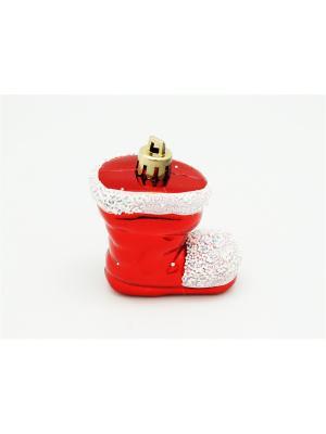 Украшение подвесное из пластика сапожок красный арт.16015  (ДШВ 0,05Х0,2Х0,02 м.) Яркий Праздник. Цвет: красный