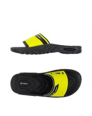 Домашние туфли RIDER. Цвет: желтый