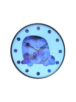 Часы настенные ArteNuevo. Цвет: голубой