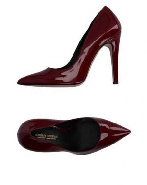 Туфли DANIELE ANCARANI. Цвет: красно-коричневый