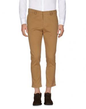 Повседневные брюки THE EDITOR. Цвет: верблюжий