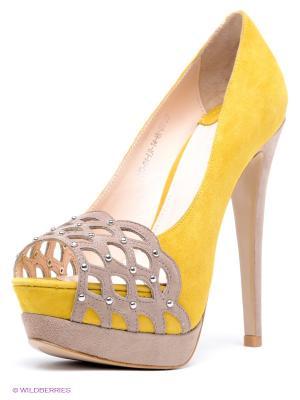 Туфли Calipso. Цвет: желтый, бежевый