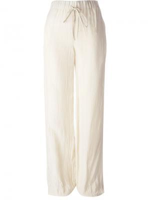 Широкие брюки Yang Li. Цвет: телесный