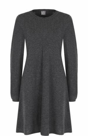 Кашемировое однотонное платье с длинным рукавом FTC. Цвет: темно-серый