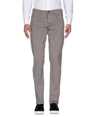 Повседневные брюки SIVIGLIA. Цвет: голубиный серый