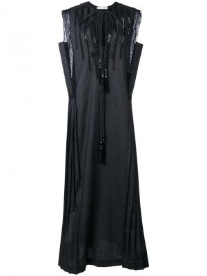 Платье без рукавов с плиссировкой Veronique Branquinho. Цвет: чёрный