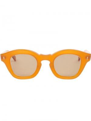 Солнцезащитные очки Glam Hakusan. Цвет: жёлтый и оранжевый
