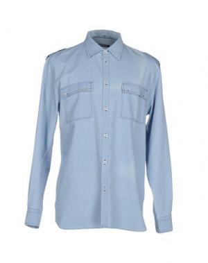 Джинсовая рубашка NINEMINUTES. Цвет: синий