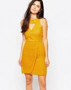 VLabel London Платье Kensal. Цвет: желтый