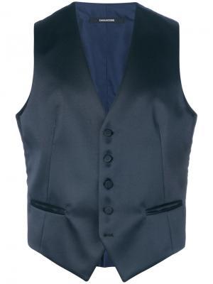 Satin waistcoat Tagliatore. Цвет: синий