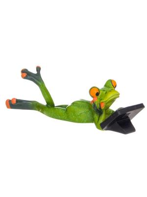 Фигурка декоративная Лягушонок с планшетом Elan Gallery. Цвет: зеленый,оранжевый