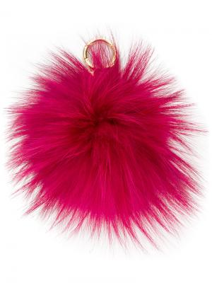 Пушистый брелок в виде помпона Michael Kors. Цвет: розовый и фиолетовый