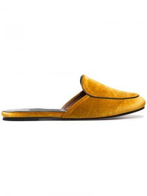 Слиперы Liza Newbark. Цвет: жёлтый и оранжевый