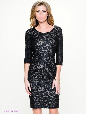 Платье Vera Mont. Цвет: черный