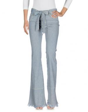 Джинсовые брюки DON'T CRY. Цвет: темно-синий