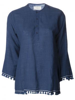 Рубашка Tassel Kurta Dosa. Цвет: синий