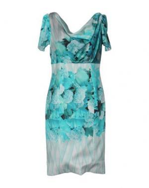 Платье до колена IVAN MONTESI. Цвет: бирюзовый