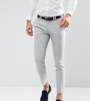 Noak Светло-серые свадебные брюки скинни. Цвет: серый