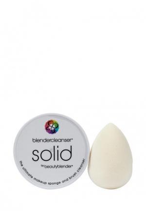 Комплект спонж и мыло для очистки beautyblender. Цвет: белый