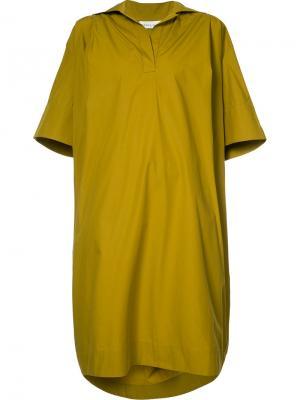 Платье с V-образным вырезом Wanda Nylon. Цвет: зелёный