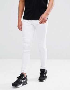 Brooklyn Supply Co. Бежевые джинсы скинни Co. Цвет: белый