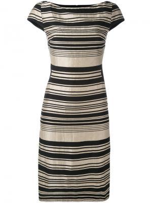 Платье в полоску Gareth Pugh. Цвет: чёрный