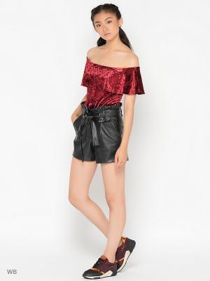 Блузка- боди &Berries. Цвет: бордовый