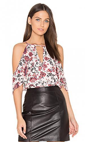 Комбинированная блуза chelo Parker. Цвет: розовый