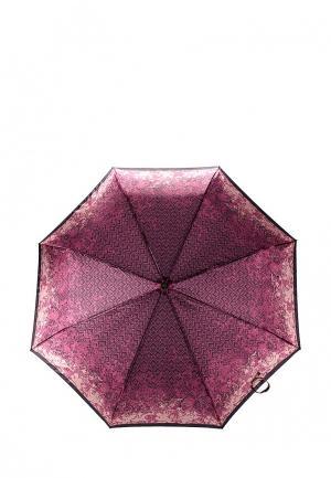 Зонт складной Fabretti. Цвет: бордовый