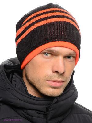 Шапка Adidas. Цвет: черный, оранжевый