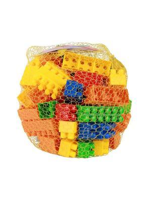 Конструктор детский (стандарт) 60шт. Альтернатива. Цвет: зеленый, желтый, красный