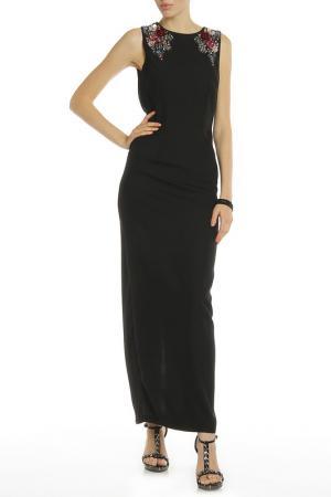 Вечернее платье с открытой спиной LITTLE MISTRESS. Цвет: черный