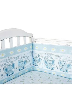 Бортик для кроватки Baby Nice. Цвет: голубой