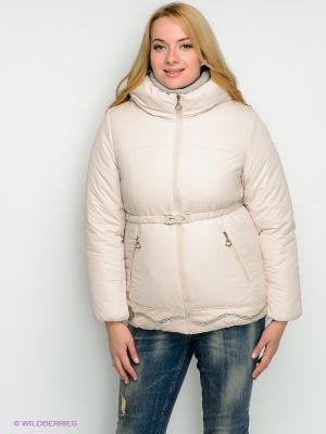 Куртка X'cluSIve. Цвет: кремовый