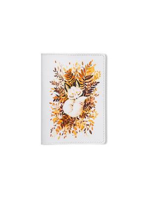 Обложка для паспорта  Лисик спит TonyFox. Цвет: белый, красный, оранжевый