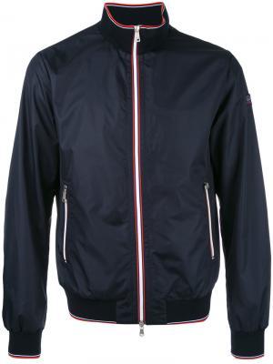 Куртка-бомбер с контрастной отделкой Paul & Shark. Цвет: синий