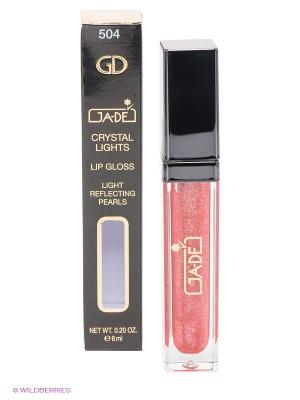 Блеск для губ Crystal Lights Gloss, 504 тон GA-DE. Цвет: коралловый