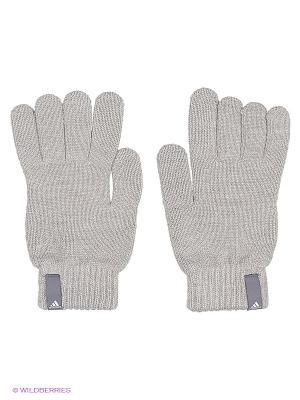 Перчатки PERF GLOVES Adidas. Цвет: серый