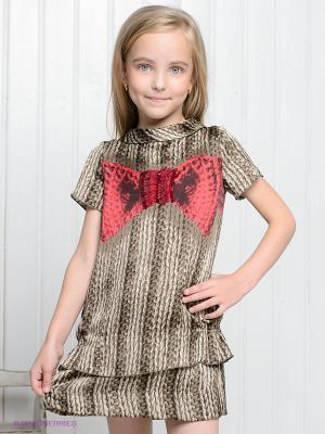 Платье Loredana. Цвет: коричневый, малиновый