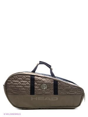 Сумка Maria Sharapova Racquet Combi Bag HEAD. Цвет: антрацитовый, коричневый
