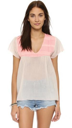 Блуза Flirt Beach Surf Bazaar. Цвет: телесный/розовый