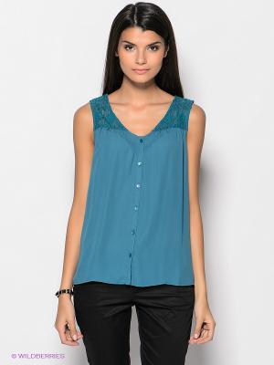 Блузка Vero moda. Цвет: морская волна