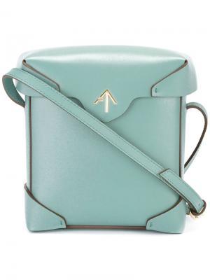 Мини сумка через плечо Pristine Manu Atelier. Цвет: зелёный