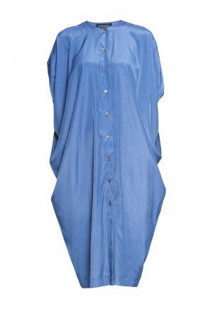 Платье из вискозы 188068 Cyrille Gassiline. Цвет: синий