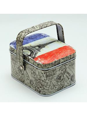 Коробка для безделушек и мелочей Французский флаг Magic Home. Цвет: темно-серый, серо-зеленый