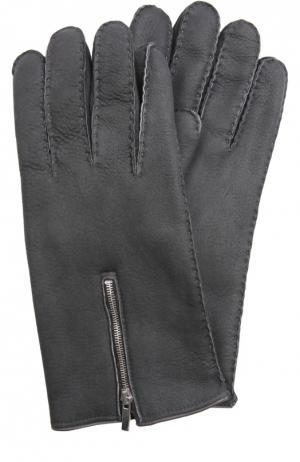 Перчатки Cortigiani. Цвет: темно-серый