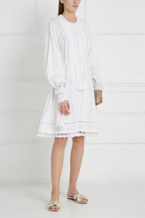 Хлопковое платье Talitha. Цвет: белый