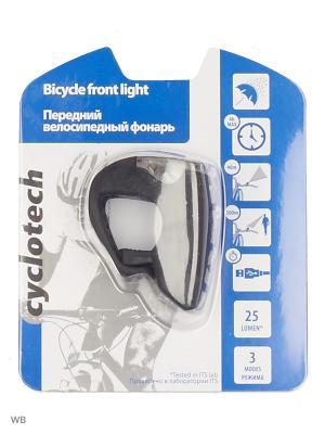Фонарь велосипедный передний Cyclotech. Цвет: черный