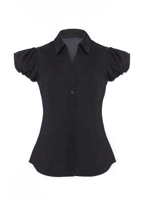 Блузка с коротким рукавом Arina. Цвет: черный
